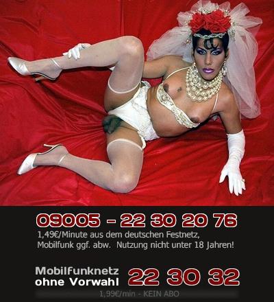 Telefonsex mit einer Diva unter den Schwanzfrauen, da wird Sex zur Revue oder Show