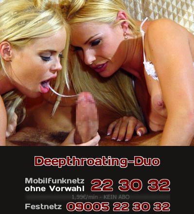 Ein Telefonsex-Luder erzählt, wie sie im Duo Deepthroating anbieten.