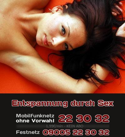 Eine erfahrene Frau, die weiß wie man durch Sex entspannen kann. Relax beim Telefonsex!