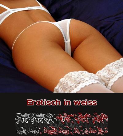 Erotische weiße Dessous sehen so sexy unschuldig aus.