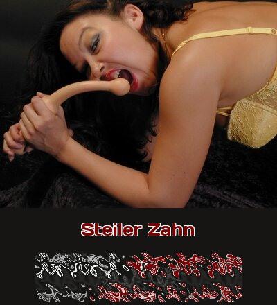 Beim Telefonsex ist sie der steile Zahn, der gern auch mal leicht am Schwanz knabbert und nagt.
