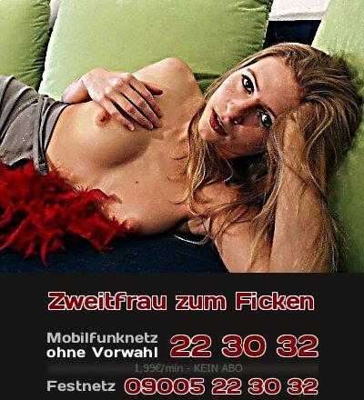 Telefonsex-Fantasie: Nur um zu ficken ist sie die akzeptierte Zweitfrau.