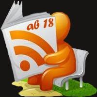 """RSS-Feedreader auf der Bank liest den RSS-Feed """"ab 18"""""""